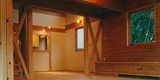 【Works 3-2】構造材表わしの2世帯の家